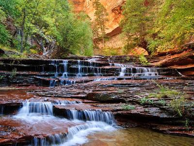Arch Angel Falls, Near The Subway In The Back Country Of Zion National Park, Utah-Austin Cronnelly-Photographic Print