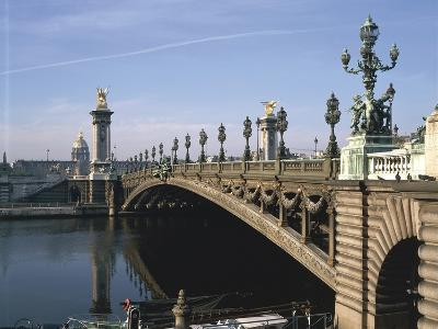 Arch Bridge across a River, Pont Alexandre Iii, Seine River, Paris, France--Giclee Print