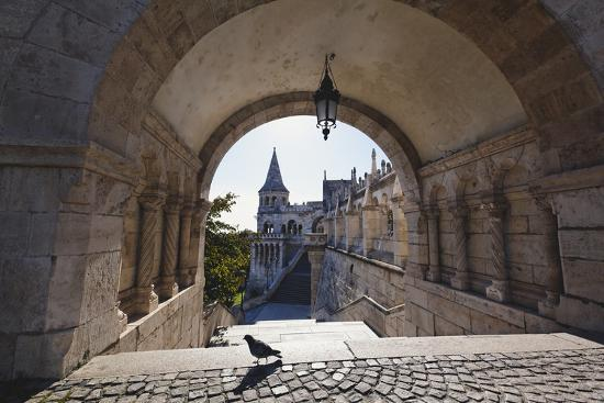 Arch, Fishermans Bastion, Budapest-George Oze-Photographic Print
