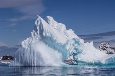 Arch in Iceberg, Cierva Cove, Antarctica, Polar Regions-Michael Nolan-Photographic Print