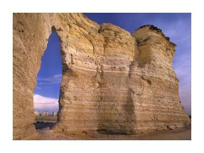 Arch in Monument Rocks National Landmark, Kansas-Tim Fitzharris-Art Print