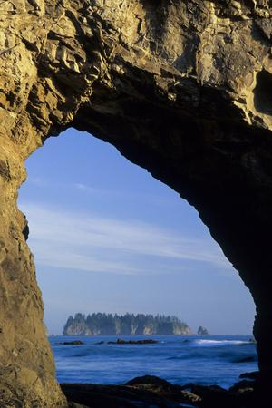 Arch in Sea Stack, Rialto Beach, Olympic National Park, Washington, USA-John & Lisa Merrill-Photographic Print