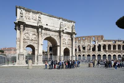 Arch of Constantine (Arco Di Costantino) and the Colosseum, Rome, Lazio, Italy-Stuart Black-Photographic Print