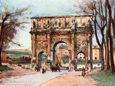 Arch of Constantine-Alberto Pisa-Giclee Print