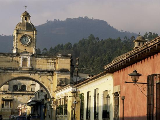 Arch of Santa Catalina, Dating from 1609, Antigua, Unesco World Heritage Site, Guatemala-Upperhall-Photographic Print
