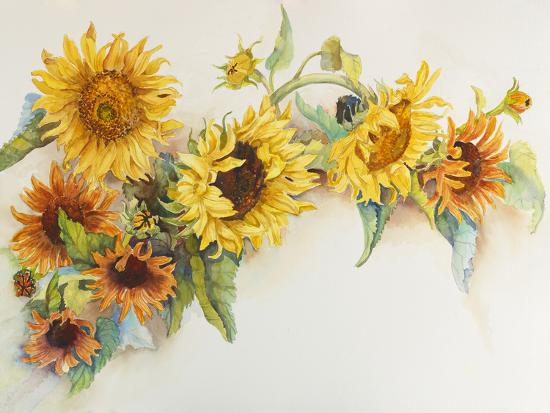 Arch of Sunflowers-Joanne Porter-Giclee Print