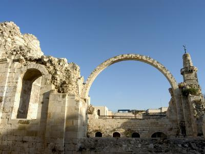 Arch of the Hurva Synagogue, Old Walled City, Jerusalem, Israel, Middle East-Christian Kober-Photographic Print