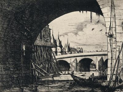Arch of the Pont Notre-Dame, 1915-CH Meryon-Giclee Print