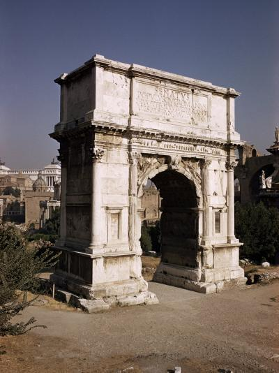 Arch of Titus, Commemorating Capture of Jerusalem in 70 AD, Rome, Lazio, Italy-Walter Rawlings-Photographic Print