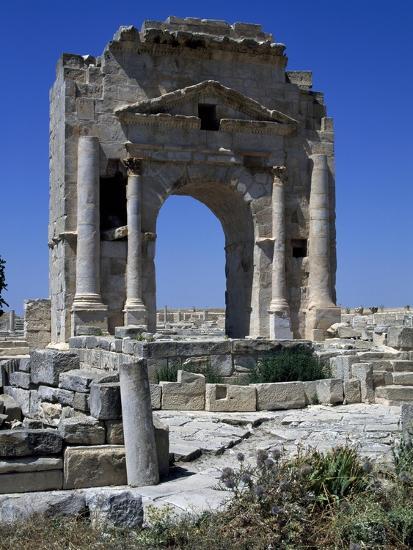 Arch of Trajan Dedicated in 116 Ad at Ruins of Ancient Town of Mactaris--Giclee Print
