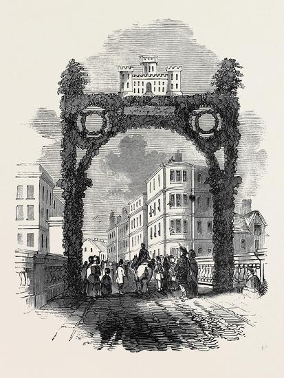 Arch on the New Brig of Ayr, Bridge, the Burns Festival--Giclee Print