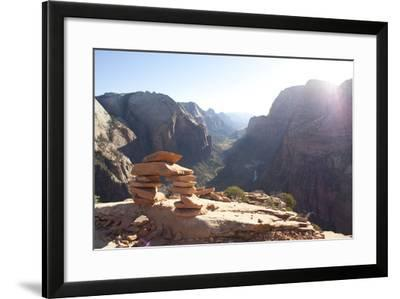 Arch On Top Of Angel's Landing In Zion National Park-Lindsay Daniels-Framed Photographic Print