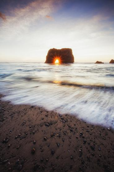 Arch Star and Beach Scene, Mendocino Coast, Northern California-Vincent James-Photographic Print