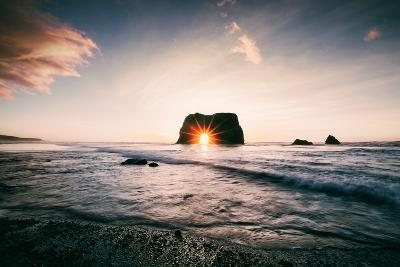 Arch Star at Blues Beach, Elephant Rock, Fort Bragg, Mendocino Coast-Vincent James-Photographic Print