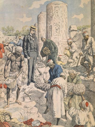 Archaeological Excavations in Antinoe from Petit Journal, 1904--Giclee Print
