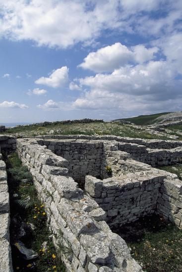 Archaeological Ruins of Monte Adranone, Sicily, Italy, Greco-Punic Civilization, 5th Century BC--Giclee Print