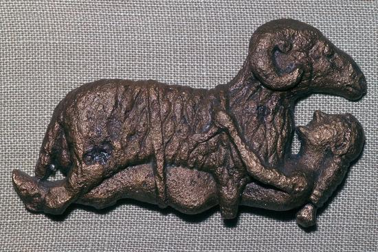Archaic bronze of Odysseus and a ram. Artist: Unknown-Unknown-Giclee Print