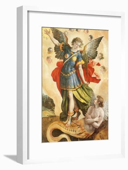 Archangel Kills Lucifer, 1587--Framed Giclee Print