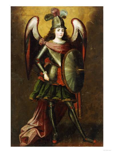 Archangel Michael, Anonymous Cuzco School, 18th Century-Jose Agustin Arrieta-Giclee Print