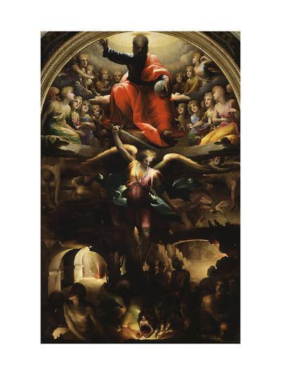 Archangel Michael Chasing Rebel Angels-Domenico Beccafumi-Giclee Print