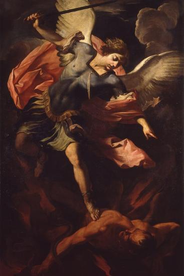 Archangel Michael Defeating Lucifer-Panfilo Nuvolone-Art Print