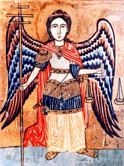 Archangel Michael Holding the Scales of Judgement--Giclee Print