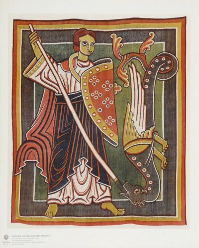 Archangel Michael the Dragon Killer--Collectable Print