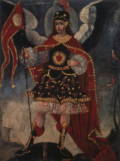Archangel Michael- Schule von Cuzco-Giclee Print