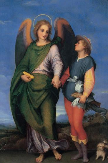 Archangel Raphael with Tobias-Andrea del Sarto-Art Print
