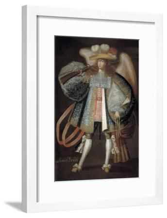 Archangel with Musket, Early 18th Century- Maestro de Calamarca-Framed Giclee Print