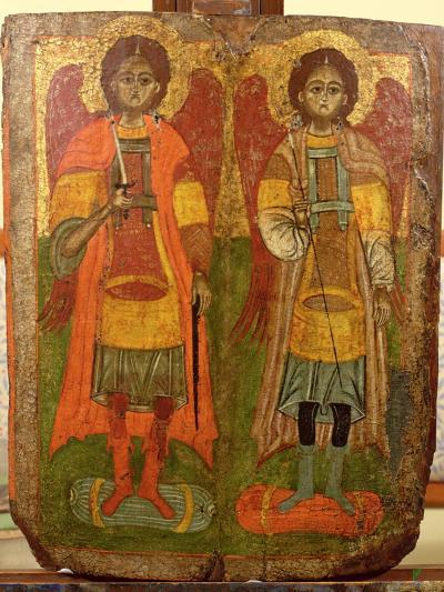 Archangels Michael and Gabriel, Byzantine Icon, Early Period, 10th-11th Century--Giclee Print
