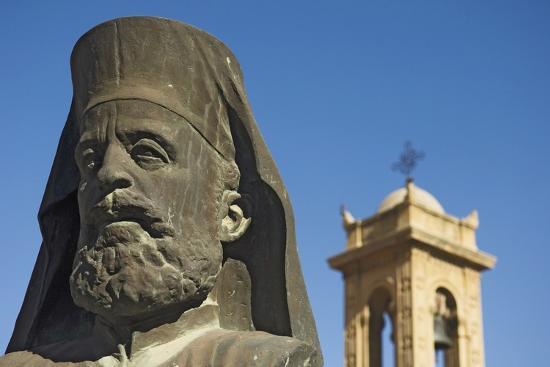 Archbishop Makarios Statue Outside Archbishopic Palace, Close Up-Design Pics Inc-Photographic Print