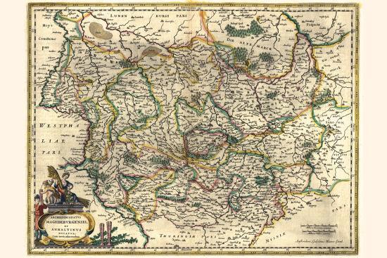 Archbishopric Of Magdeburg And The Duchy Of Anhalt-Willem Janszoon Blaeu-Art Print
