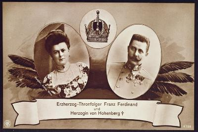 Archduke Franz Ferdinand of Austria, Heir to the Austrian Throne and His Wife, Duchess of…- Austrian School-Giclee Print