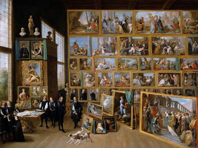 Archduke Leopold Wilhelm in His Gallery in Brussels, Ca 1651-David Teniers the Younger-Giclee Print