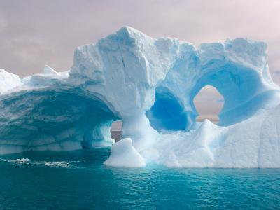 Arched Iceberg, Western Antarctic Peninsula, Antarctica-Steve Kazlowski-Photographic Print