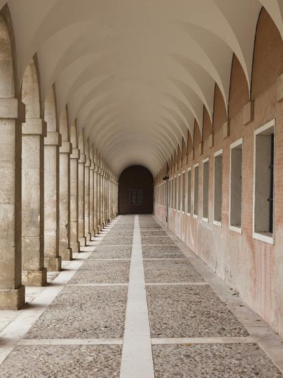 Arched Walkway, the Royal Palace, Aranjuez, Spain-Walter Bibikow-Photographic Print