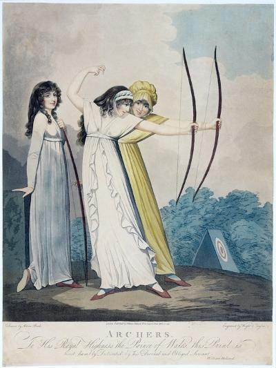 Archers, Engraved by J.H. Wright (Fl.1795-1838) and Conrad Ziegler, 1799 (Aquatint)-Adam Buck-Giclee Print