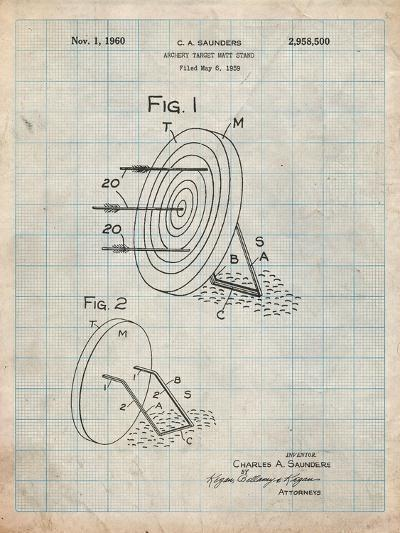 Archery Target and Stand Patent-Cole Borders-Art Print