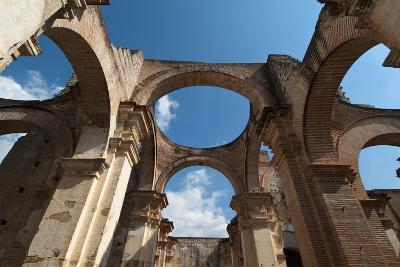 Arches in Old Cathedral Ruins in Antigua in Guatemala-Sergio Pitamitz-Photographic Print