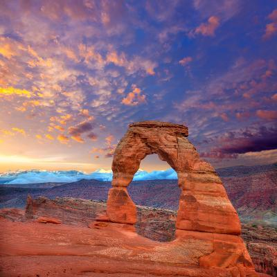 Arches National Park Delicate Arch in Utah Usa-Lunamarina-Photographic Print