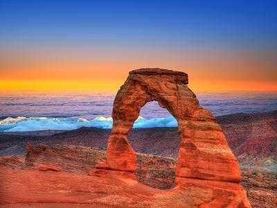 Arches National Park Delicate Arch Sea of Clouds in Moab Utah USA Photo Mount-holbox-Photographic Print
