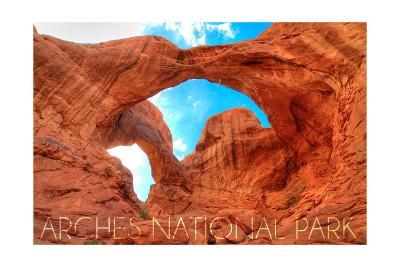 Arches National Park, Utah - Daytime Blue Sky-Lantern Press-Art Print