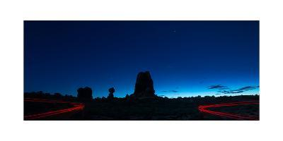 Arches Natl Park At Night-Steve Gadomski-Photographic Print