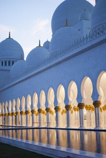 Arches of Grand Mosque of Abu Dhabi-Ahmad A Atwah-Photographic Print