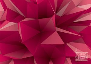 Abstract Triangular Crystalline Background, Low Poly Style Illustration by archetype