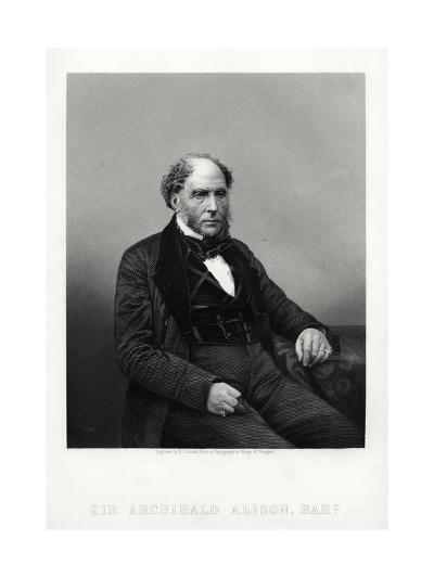 Archibald Alison, Scottish Didactic and Philosophical Writer, C1880-DJ Pound-Giclee Print