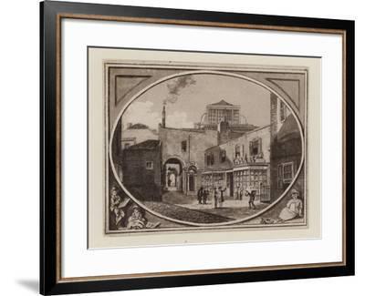 Archibald Roberton, Print Seller, of Savill Row Passage, Adjoining Squib's Auction Room, Circa 1790--Framed Giclee Print