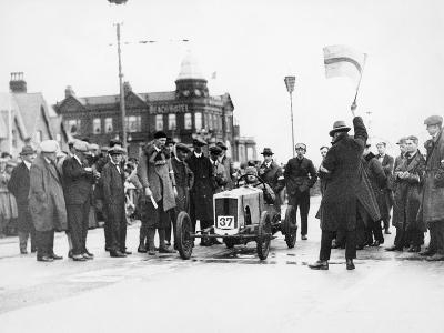 Archie Frazer-Nash Waiting at the Start of a Motor Racing Event--Photographic Print