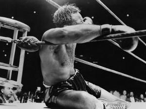 Archie Moore Knocked Out by Heavyweight Champion Rocky Marciano